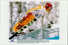 Backhopper of unknown nationality and unknown name during the OS in Nagano 1998.