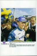 Rickard Rydell and his wife Ulrika after second place in the first BTCC race.