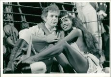 David Essex and Sinitta Renet.