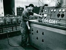 A man working in a factory.