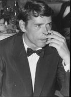 "Jacques Brel på Cannes Film festival för filmen ""An adventure is an adventure"" med Claude Lelouch"