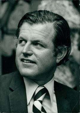 Edward Kennedy a United States Senator from Massachusetts and a member of the Democratic Party.