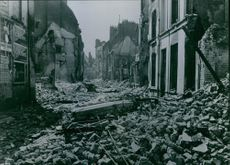Enemy resistance brought with it, that wanze districts were laid in ruins. 1944