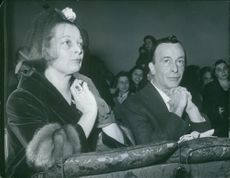 Emilio Federico Schubert and his wife at the wedding of his daughter.   Rome.