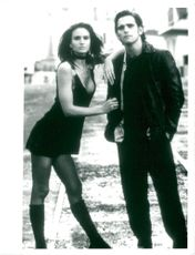 """Matt Dillon along with Kelly Lynch in the movie """"Drugstore Cowboy""""."""
