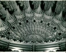 The Magnificent carving on the ceiling of Bay Window.