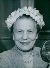 Portrait of a Labour Party member of the House of Lords, Edith Summerskill.