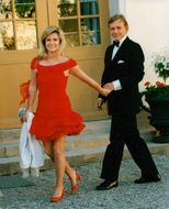 Grynet Molvig together with husband Carl Adam Lewenhaupt on his way to royal dinner at Drottningholm Castle