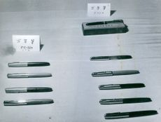 Different types of pen from Asia.