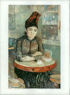 Vincent Willem van Gogh:woman in the cafe du tambourin.