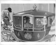 Princess Margaret in the chariot.