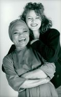 Mother and daughter: Eartha Kitt with her daughter Kitt in portrait photo