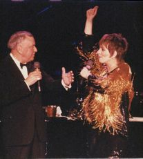 Liza Minnelli performs on the Exchange together with Frank Sinatra and Sammy Davis Jr.