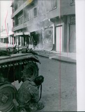 Tunisian soldiers firing in the street during the Bizerte Crisis in 1961.