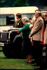 Queen Elizabeth was usually in place when the annual horse racing Royal Windsor Horse show went off.