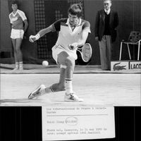 Jimmy Connors in action in French open