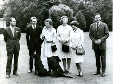 Prins Phillip, Mark Phillips, Prinsessan Anne, Mrs. Anne Phillips, drottning Elizabeth och Peter Phillips