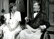 """Louise Edlind and Kent Andersson in """"Well then ... one more?"""" On Folkan"""