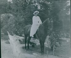 Princess Astrid Maud Ingeborg riding horse.