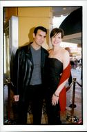 """Geena Davis and Dr. Reya Jarrahly at the premiere of """"Stuart Little""""."""