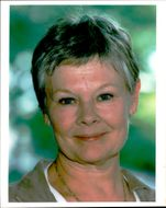 Portrait image of lady Judi Dench taken in an unknown context.