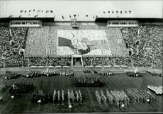 OS in Moscow 1980. From opening ceremony in Lenin Stadium