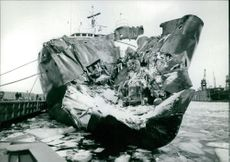 A damaged ship.