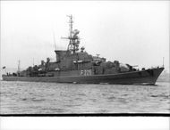 "The West German frigate ""Braunschweig""."