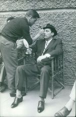 A man being groomed.