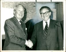 Dr. Henry Kissinger with Mr Heath.