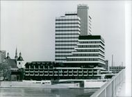 West German view: Lufthansa Headquarters, 1982.