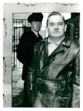 Portrait image of Ronnie Barker, actor, taken in an unknown context.