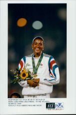 Marie Jose Perec took the gold medal during the Olympic Games in Atlanta.