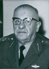Vintage photograph of General Cevdet Sunay. 1964.