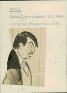 Illustration of Pierre Laval, Interior Minister France, by Unknown Teacher. - Year 1931