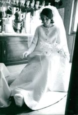 Christine Béranger-Goitschel wearing weddingdress