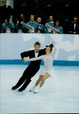 Christopher Dean and Jayne Torvill (UK) took bronze medals in the icecream competition