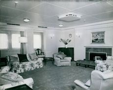 View of one of the guest rooms where Churchill slept.