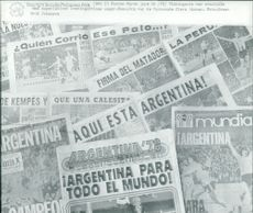 Football. World Cup 1978 Argentina. Newspapers with articles about Argentina's victory