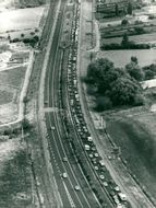 France, Traffic & Communications - Aerial view of the highway