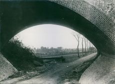 A picture of a road taken during the first world war.
