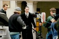 "Actor Keanu Reeves during the filming of the movie ""Devil's Lawyer"""