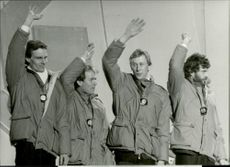 Gold medals of 4x10 km relay, Benny Kohlberg, Janne Ottosson, Gunde Svan and Thomas Wassberg.