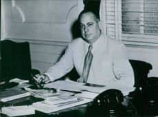 Jose Ramon Guizado pictured at his desk in his office.