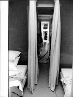 Room inside the aircraft with a single bed