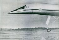 Sketch of an airplane. Surveillance plan TU-144 Nosparti