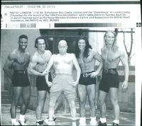 Entertainer Roy Castle and the Dreamboys in London.