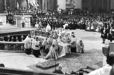 Pope Paul VI during a ritual.