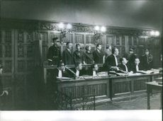 People in courtroom.1962