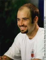 American tennis player Andre Agassi.